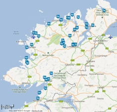 Donegal self-catering Accommodations Map